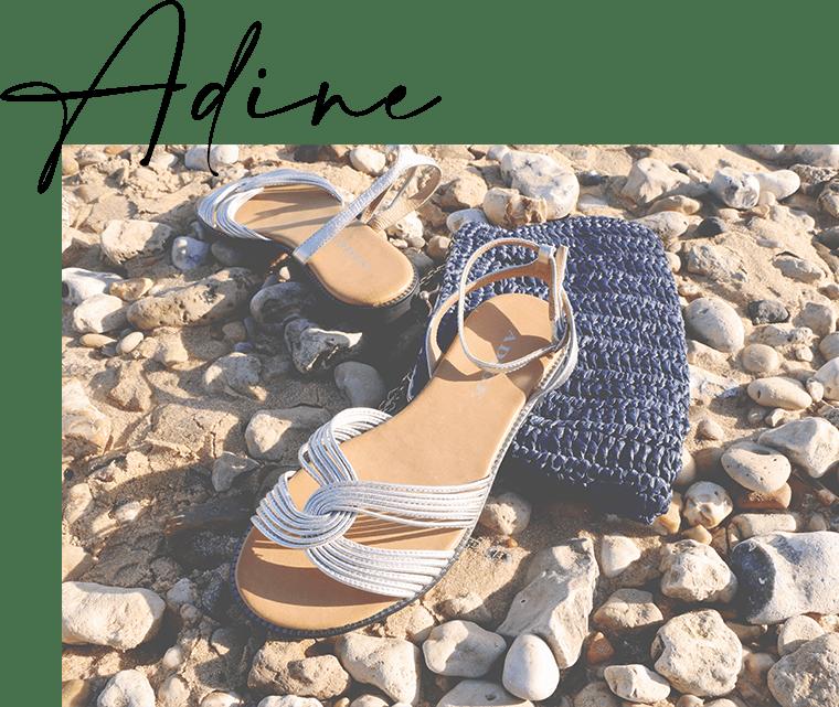Adine métal Chaussures femme - Sandale chic