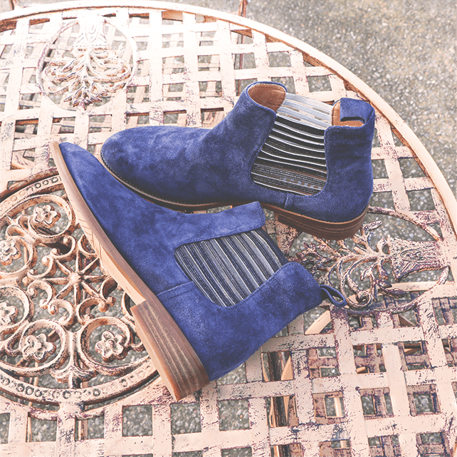 Teva boots bottine chic bleue