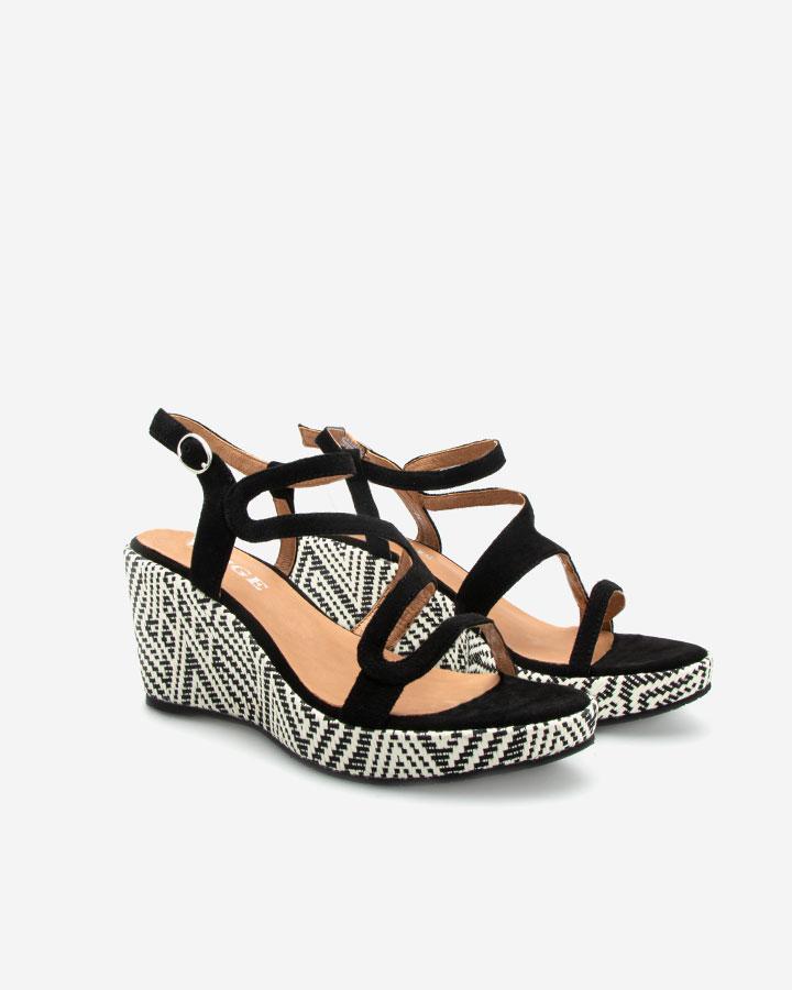 Ferguie sandale compensée noire