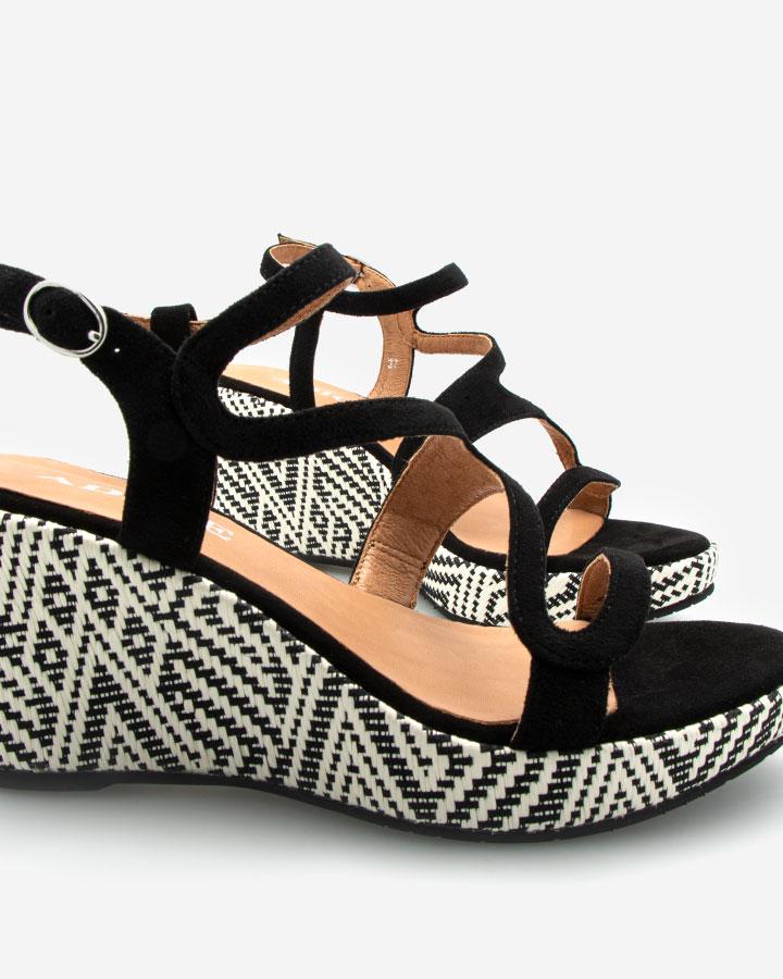 Ferguie sandale chic compensée noire