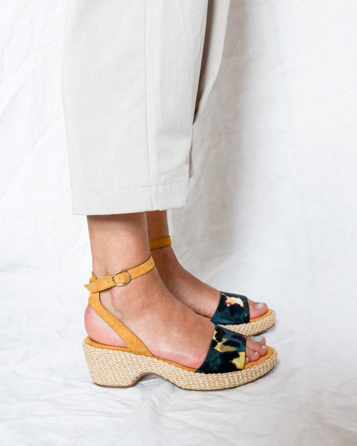 Karel sandale chic talon jaune