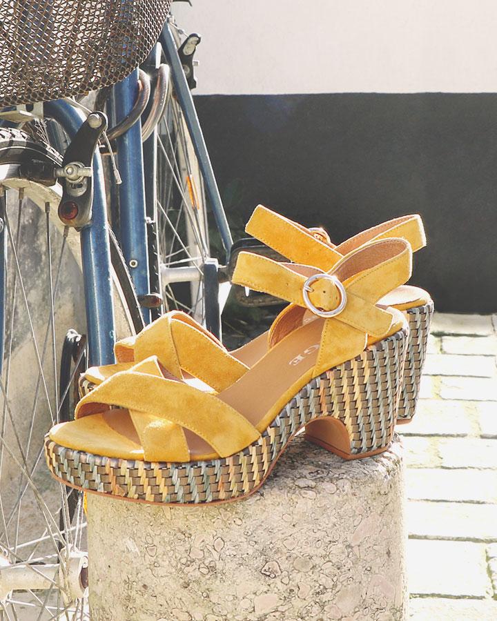 Sandale Rachel jaune talons été