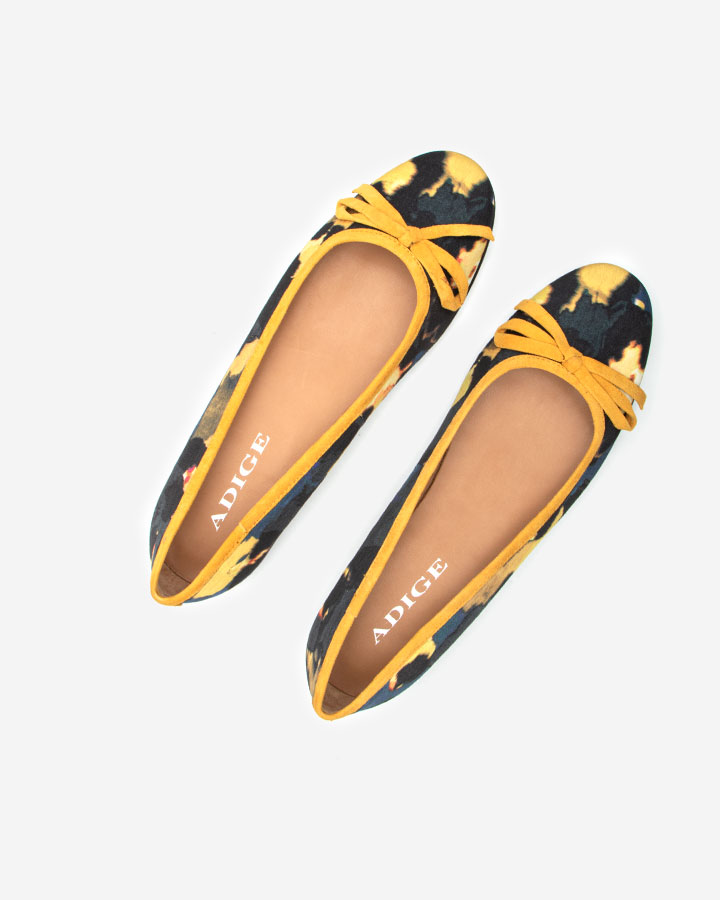 Delphy ballerine chic jaune