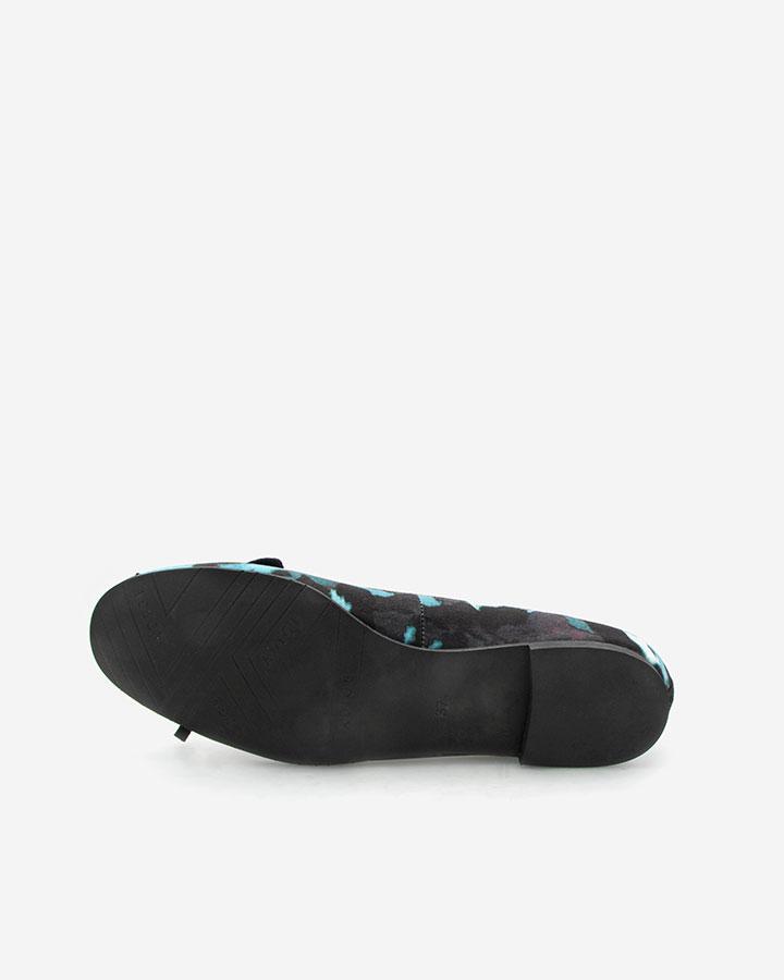 Delphy ballerine chic noire et bleue