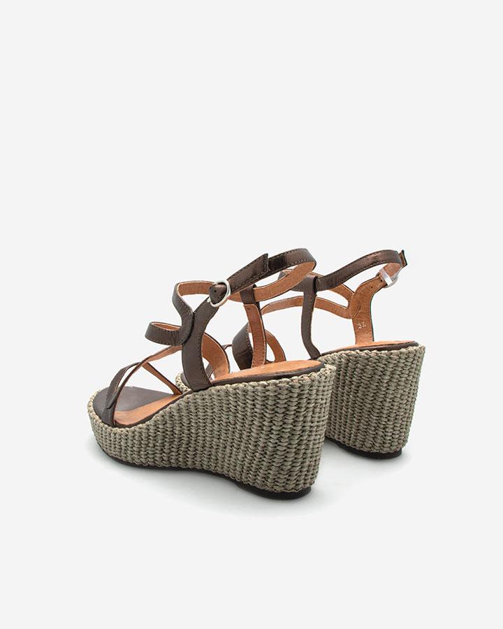 Ferguie sandale chic compensée bronze
