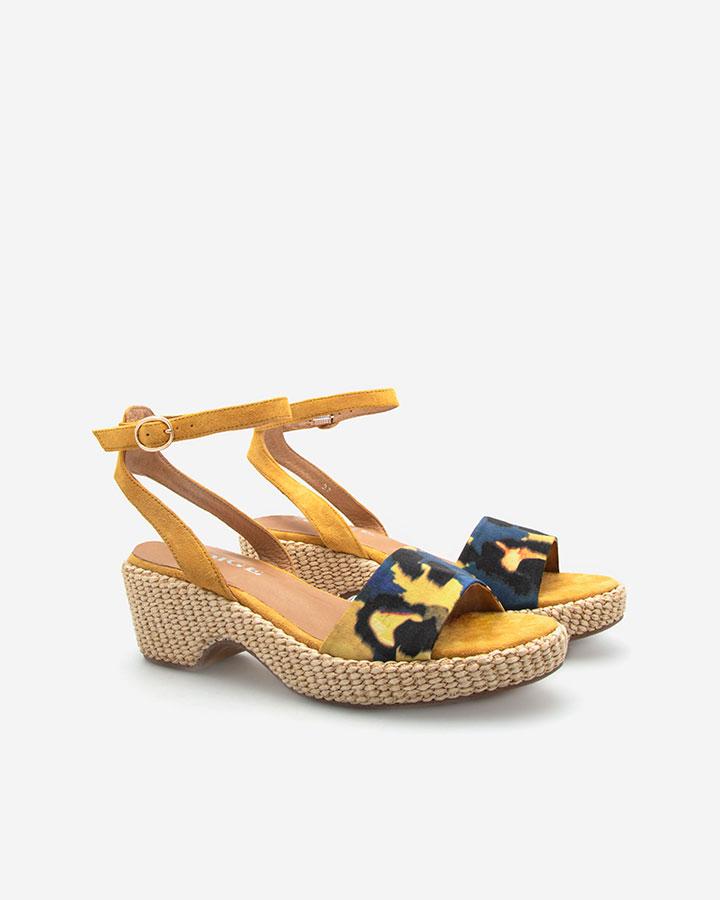 Karel sandale talon jaune