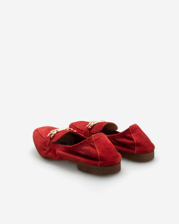 Mael mocassin chic rouge