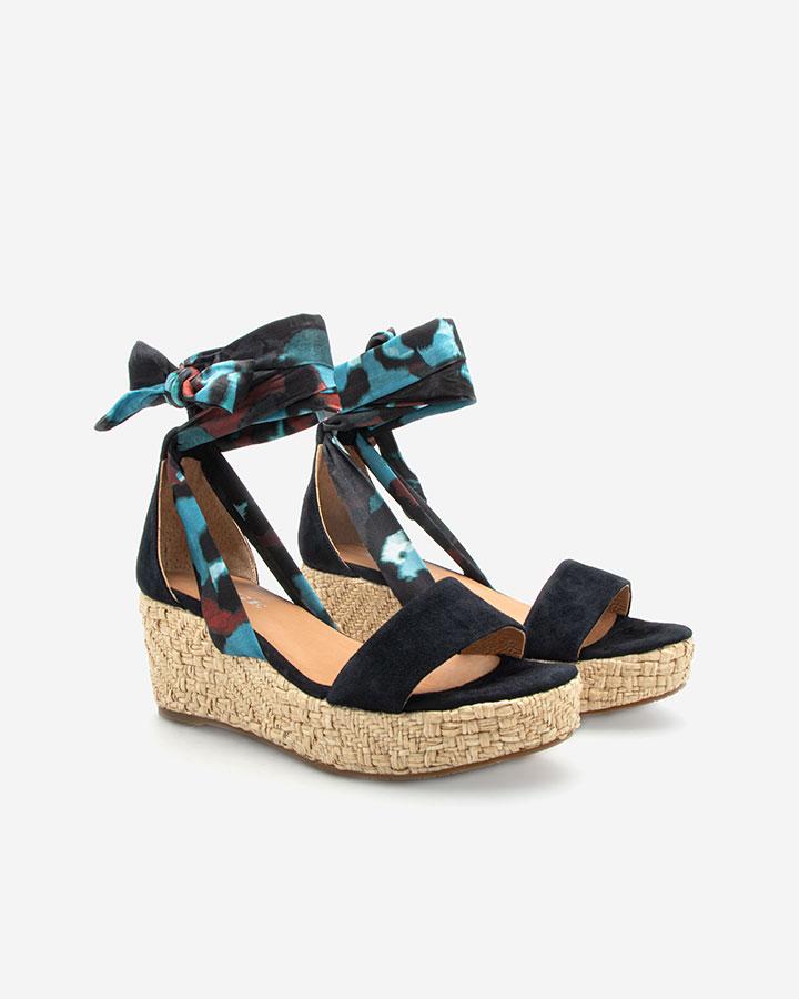 Nais sandale compensée bleu marine