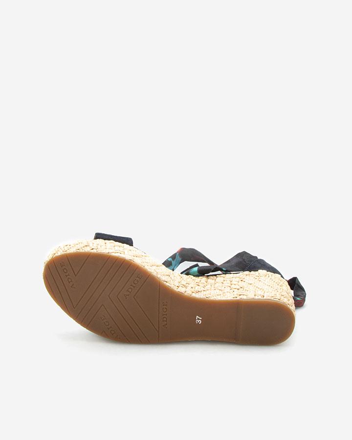 Nais sandale chic compensée bleu marine