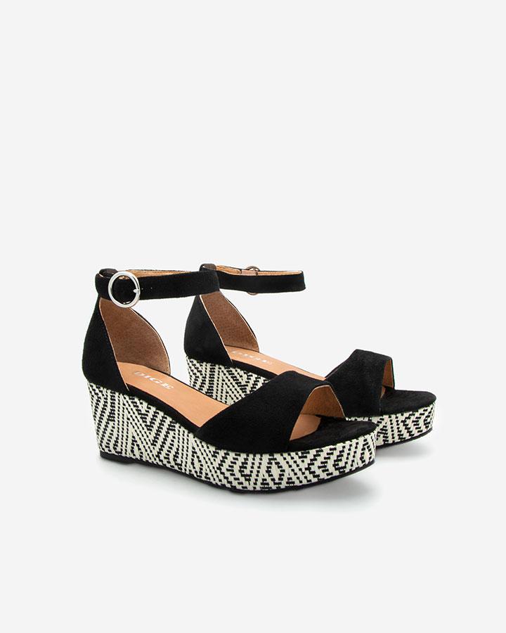 Nessy Sandale compensée noire