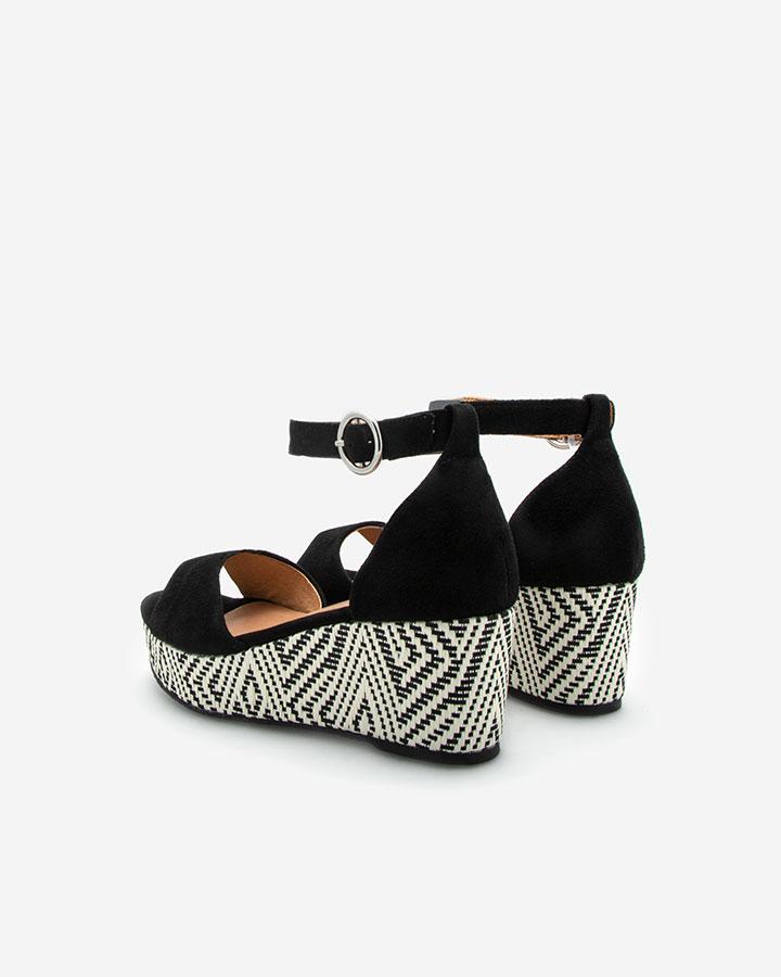 Nessy Sandale chic compensée noire