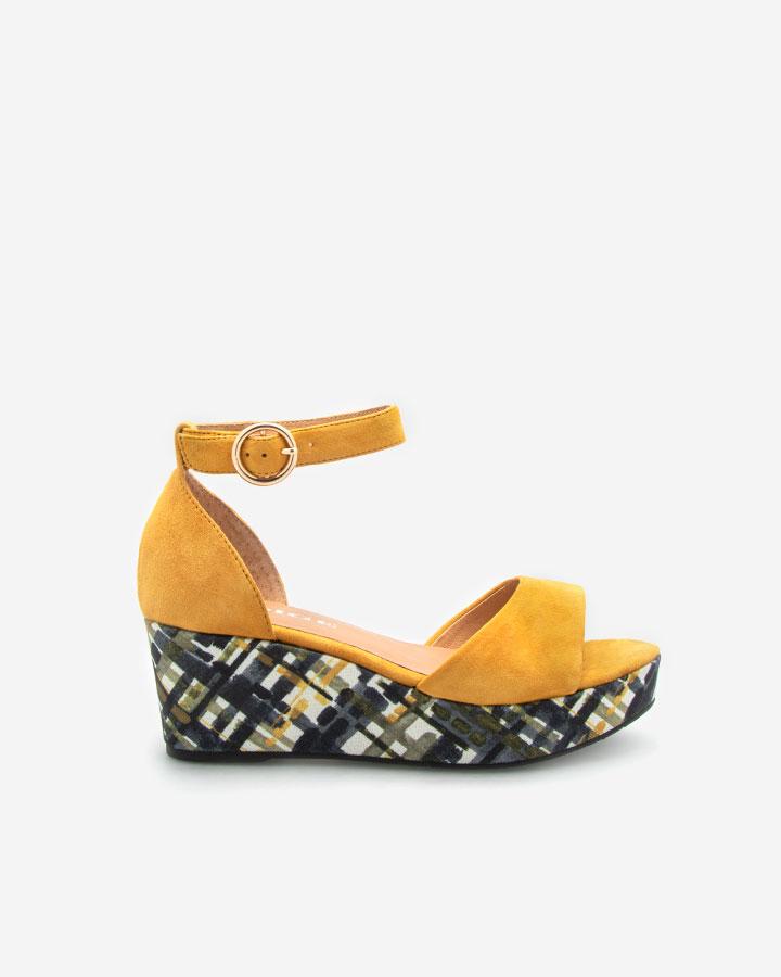 Nessy Sandale compensée jaune