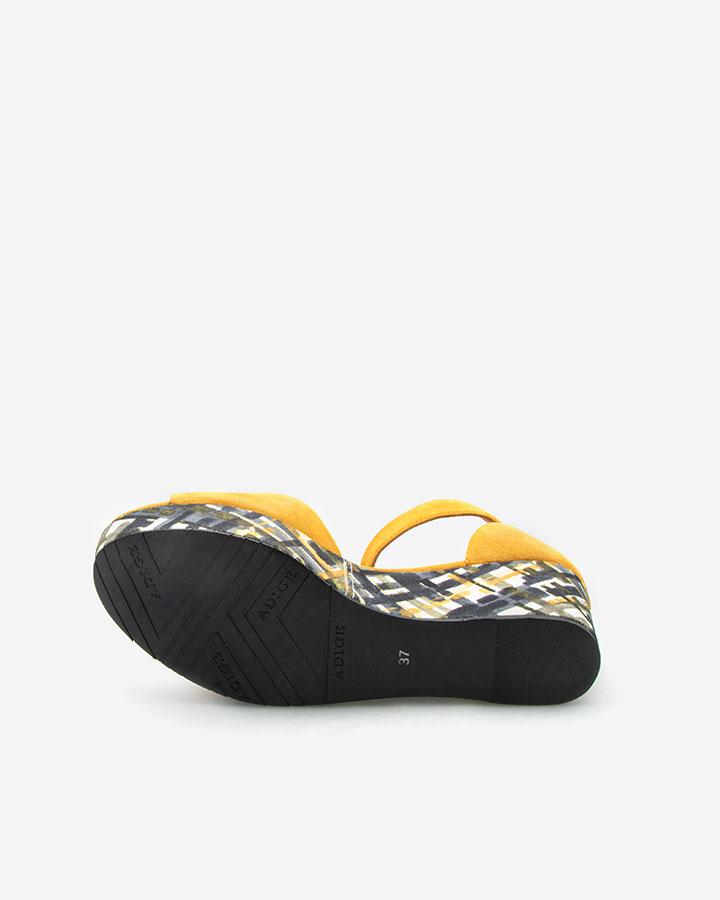Nessy Sandale chic compensée jaune