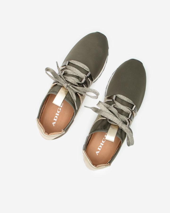 Basket chic, confort kaki Xysta