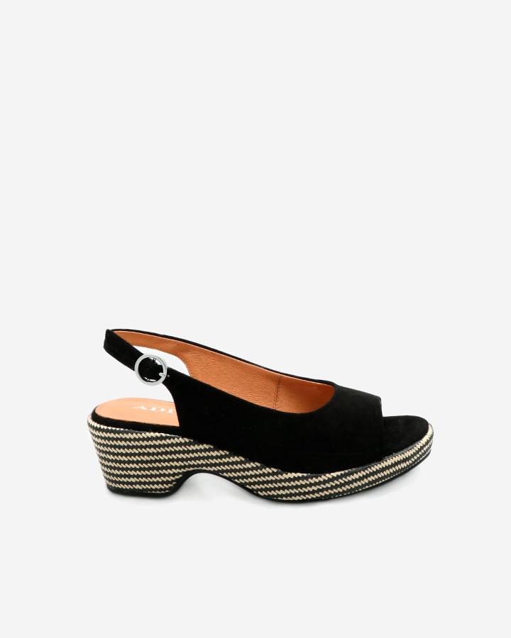 Sandale Karol noire talon