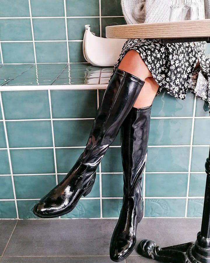 Bottes Celine élégantes noire femme