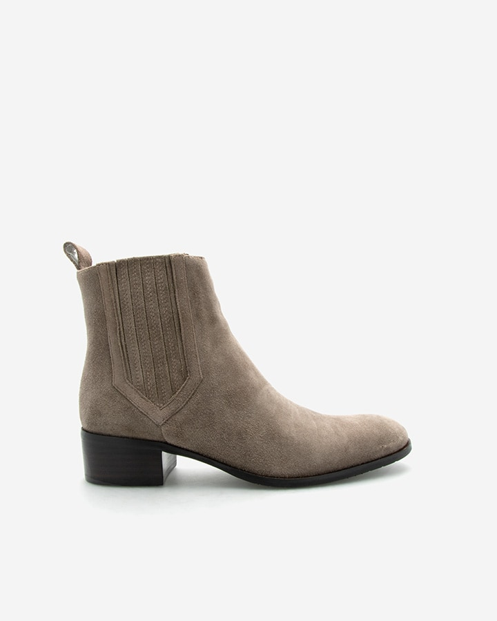BOTTINES TENDANCES CARLA VELOURS TAUPE