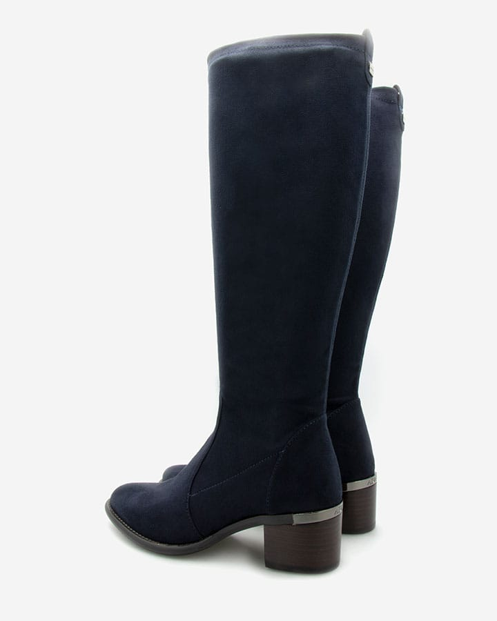 bottes chic intemporelles stretch bleu marine Diane