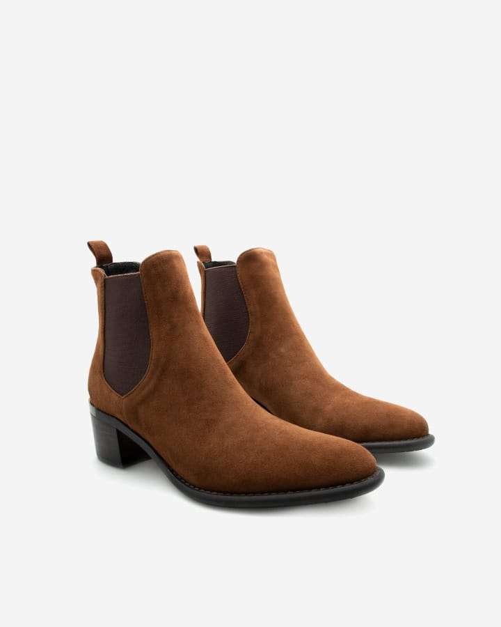 bottines diva femme marron camel tendance