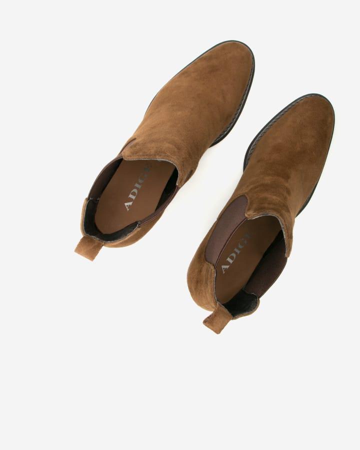 bottines velours camel femme