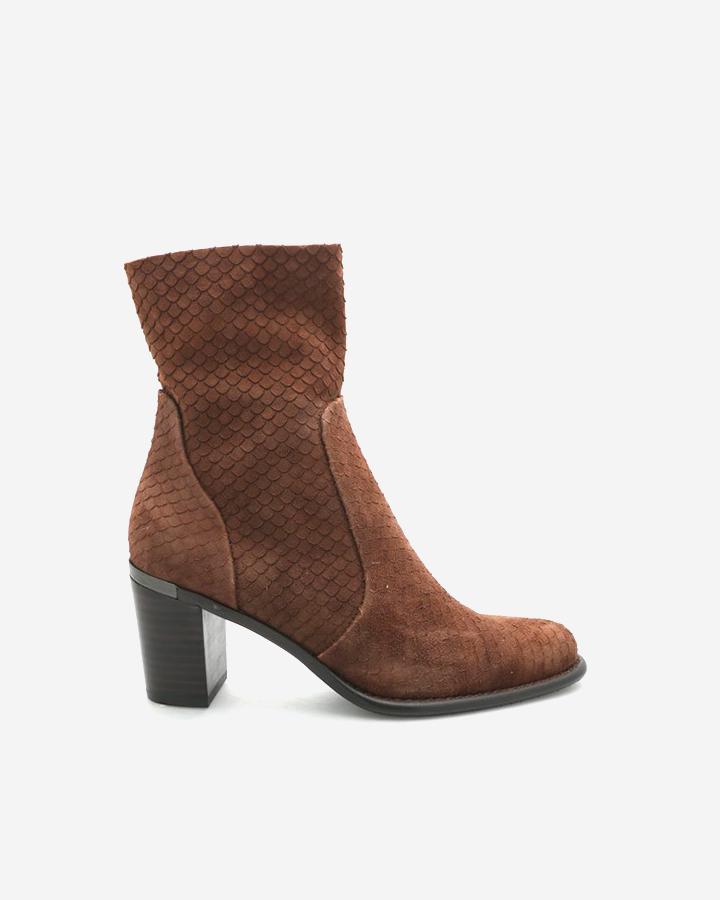 Fara | High Boots Chèvre Velours Ébène