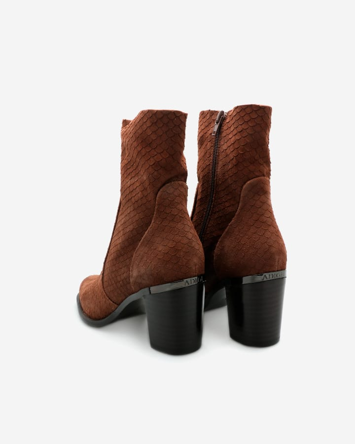 Fara   High Boots Chèvre Velours Ébène