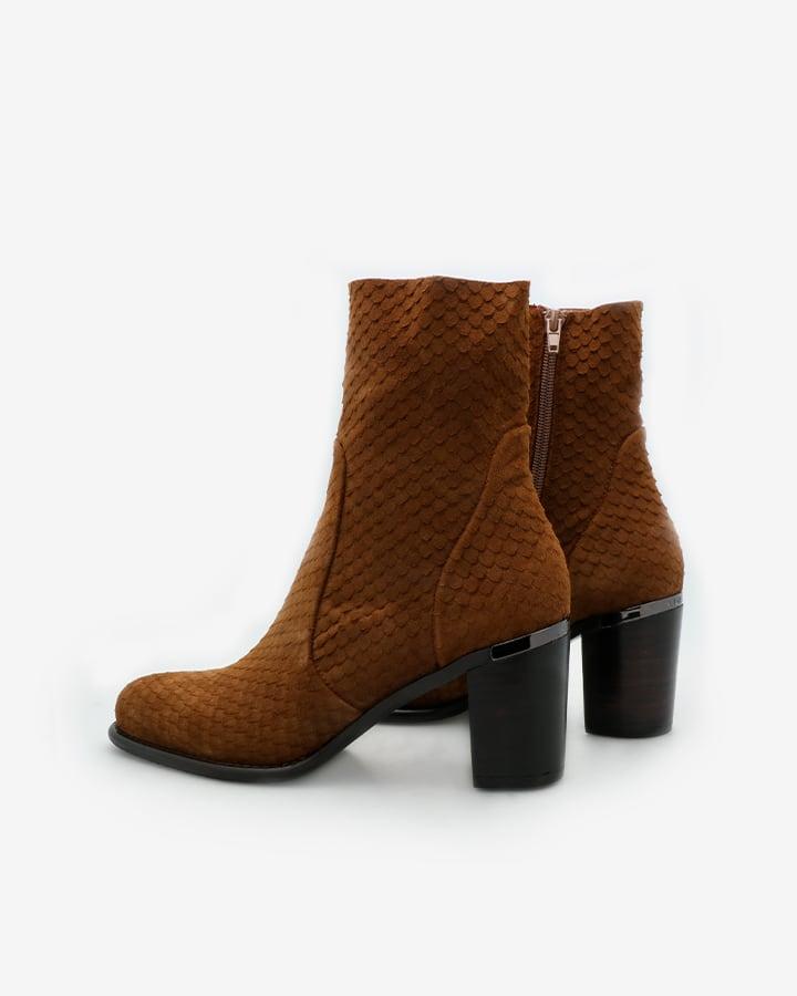 bottines marron femme talons