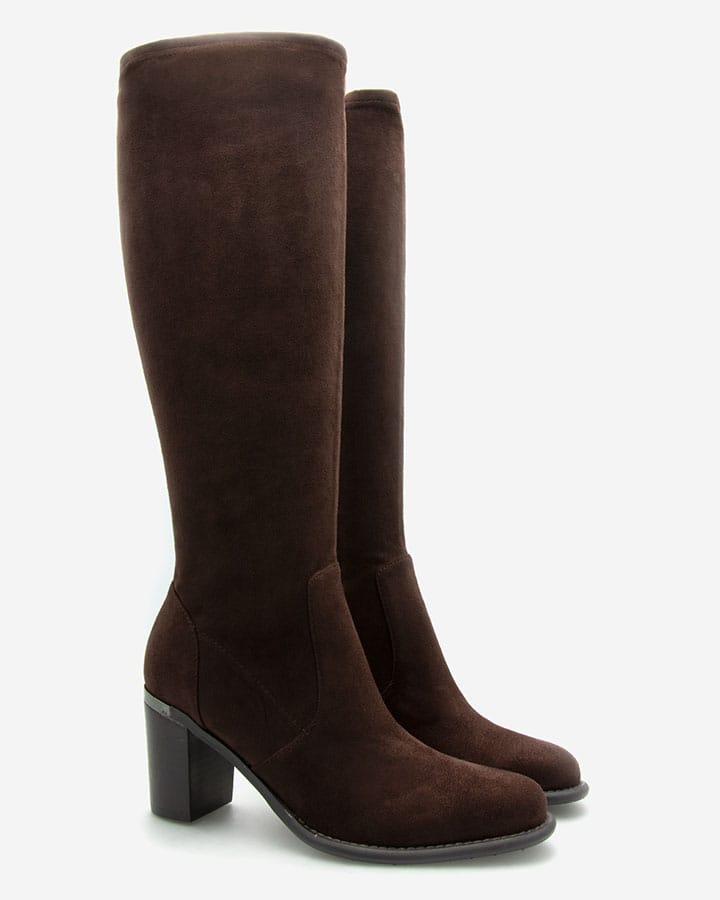 Bottes intemporelles stretch marron femme Fiona