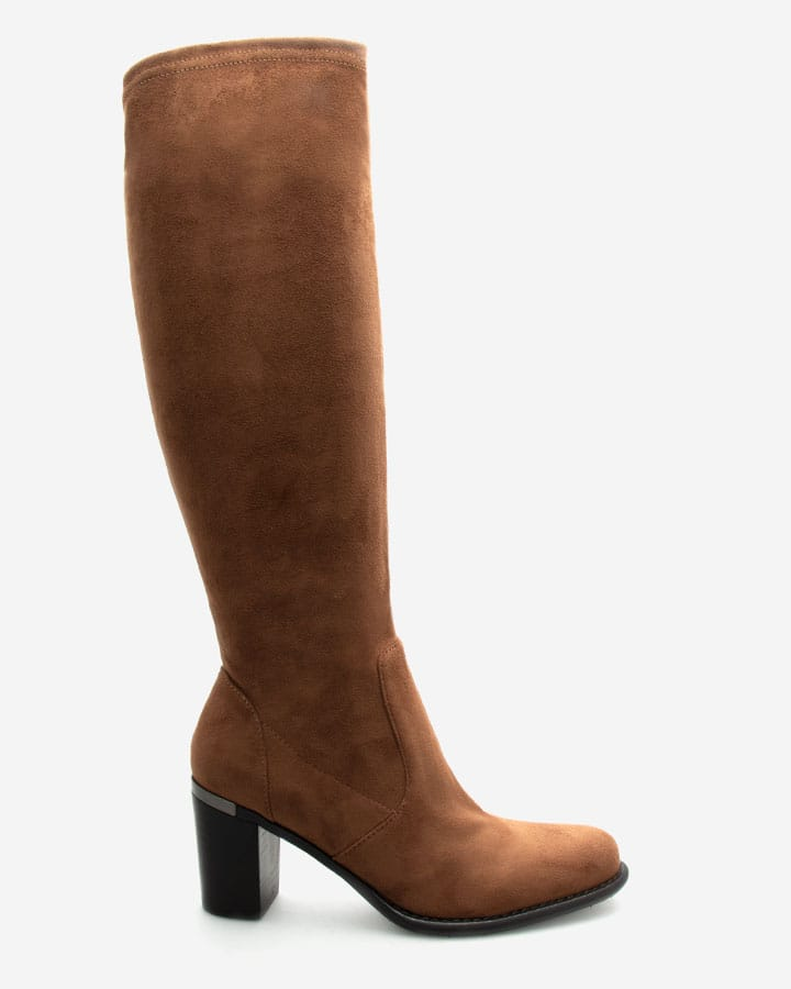 Bottes chic fiona camel femme