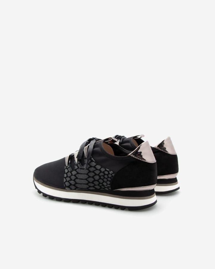 Sneaker sport Xiao lycra noir femme