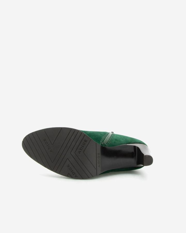 Low boots vert forêt Agathe talon femme