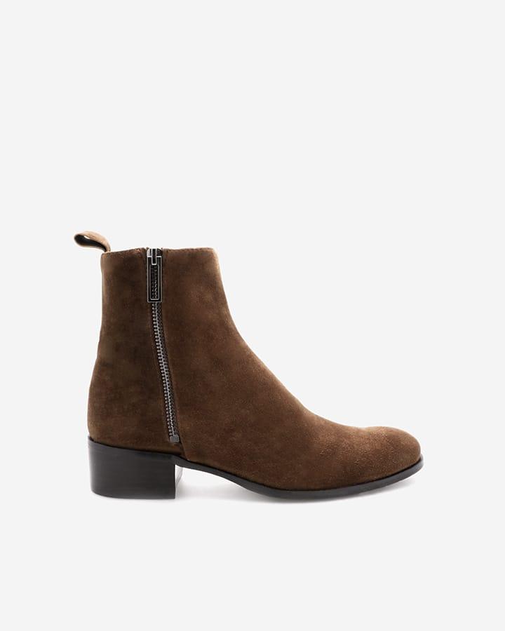 Boots Cric velours noix camel