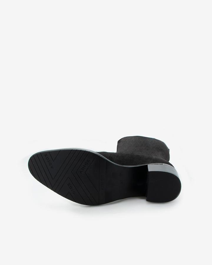 Bottes stretch velours noir