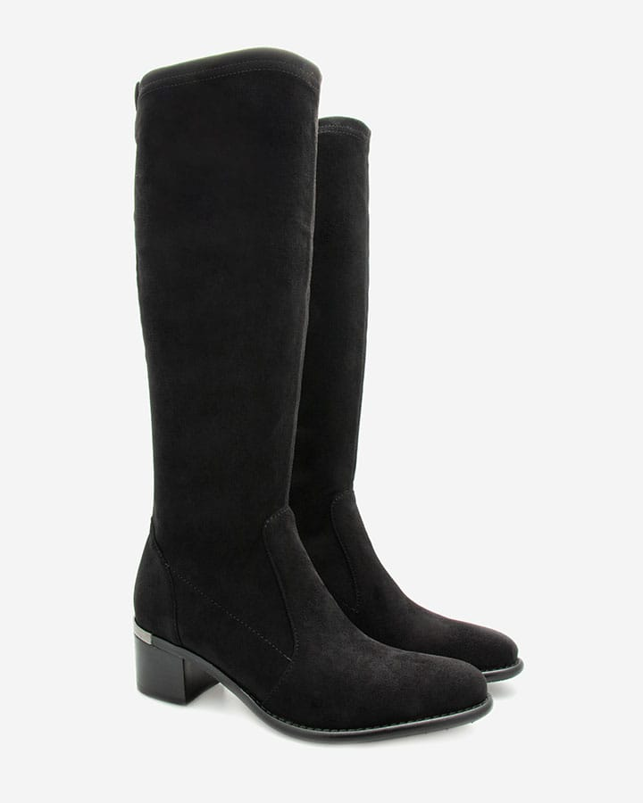 Bottes intemporelle Diane stretch noir