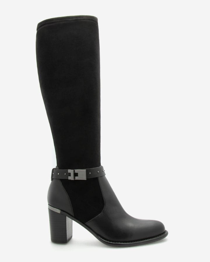 Bottes chic stretch noir Flash