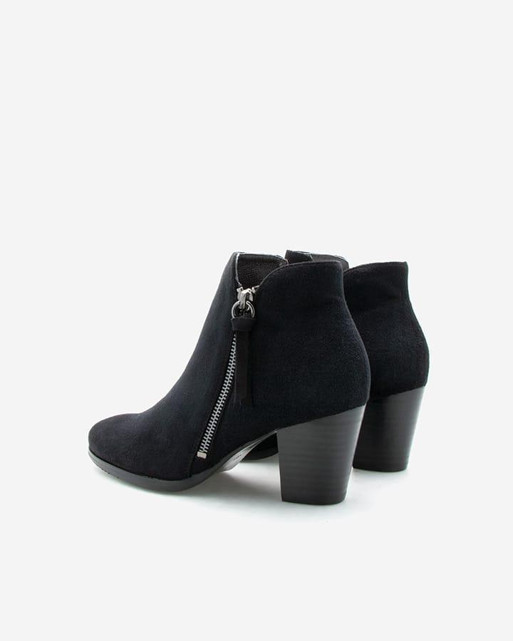 Boots Kimy cuir noir talon femme