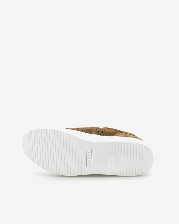 Basket tendance kaki Zelia velours