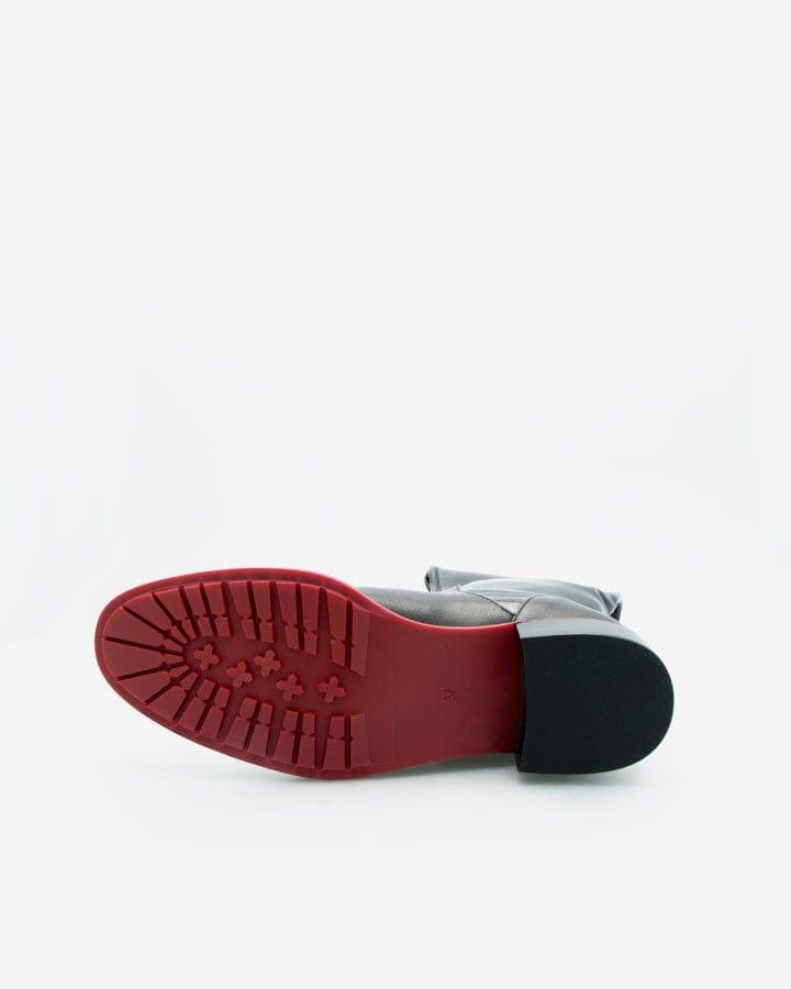 Beny cuir et vernis bottes noir femme