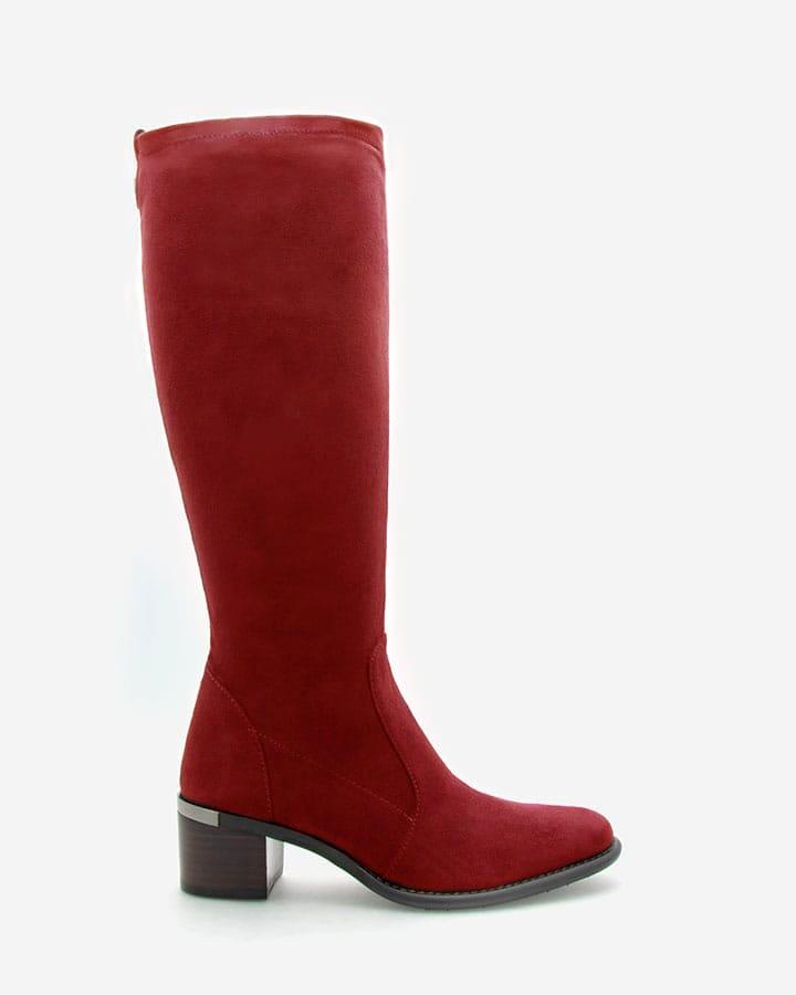 Bottes Diane rouge chic femme