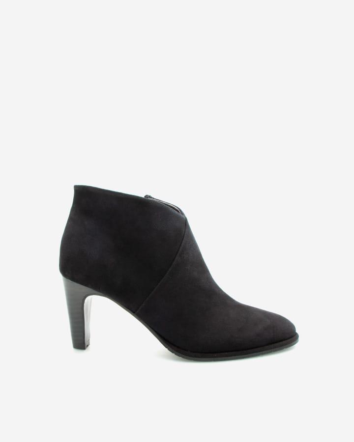 low boots noir talon agathe femme