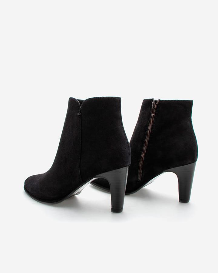 Boots Alban velours noir talon femme