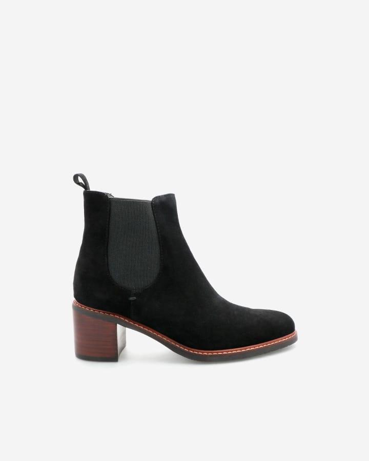 Chelsea boots Elise velours noir femme
