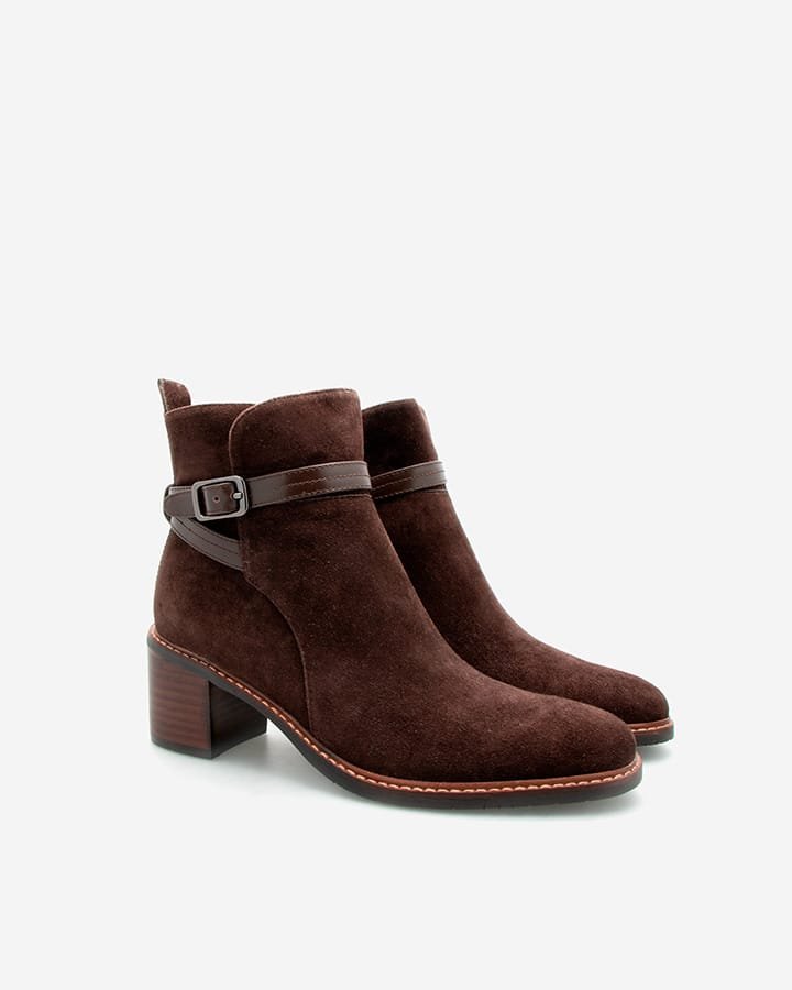 Bottines Estelle marron femme velours