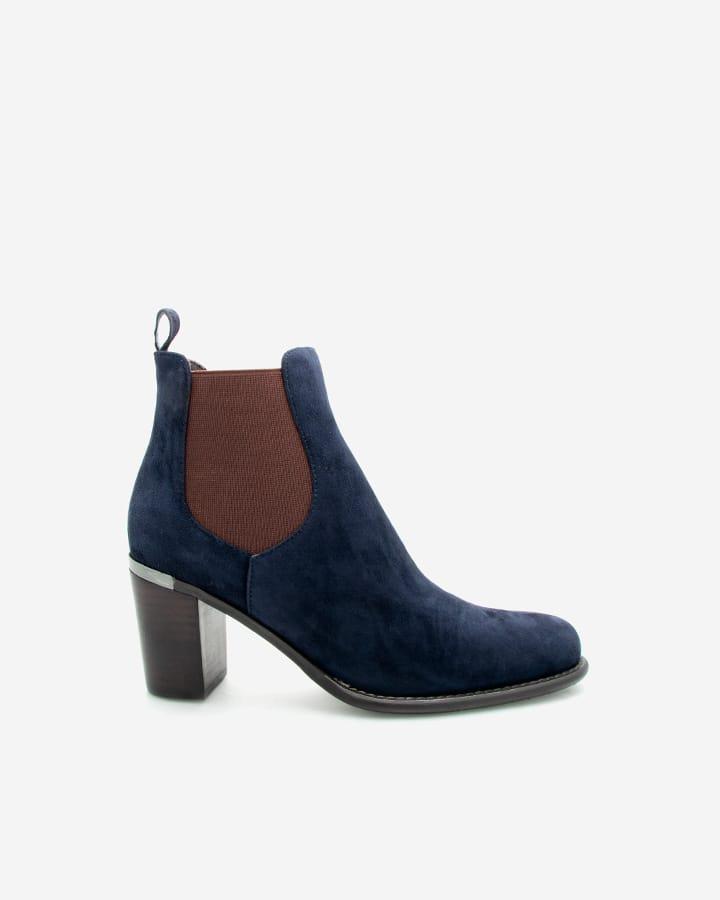 Boots Fanny bleue talon femme