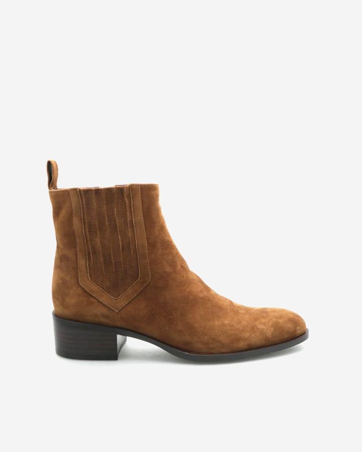 Carla boots chic velours noix femme