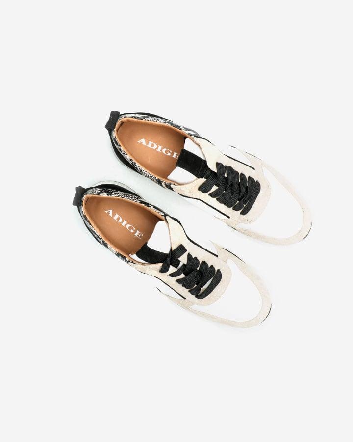 Sneakers Femme Vanille Blanc Python