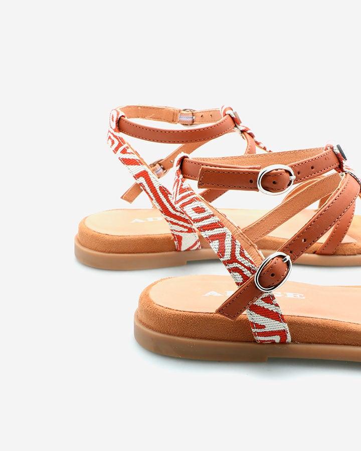 Sandale Chic Femme Camel