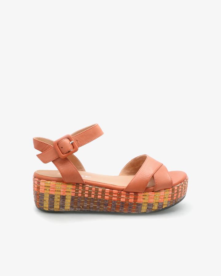 Sandale Compensée Chic Orange