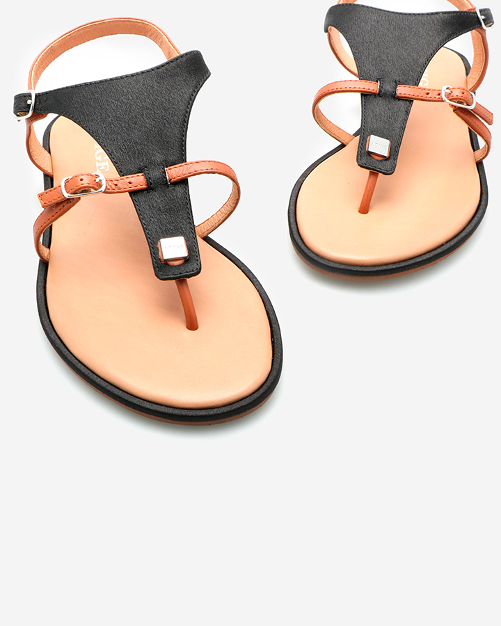 Sandales chic femme noire
