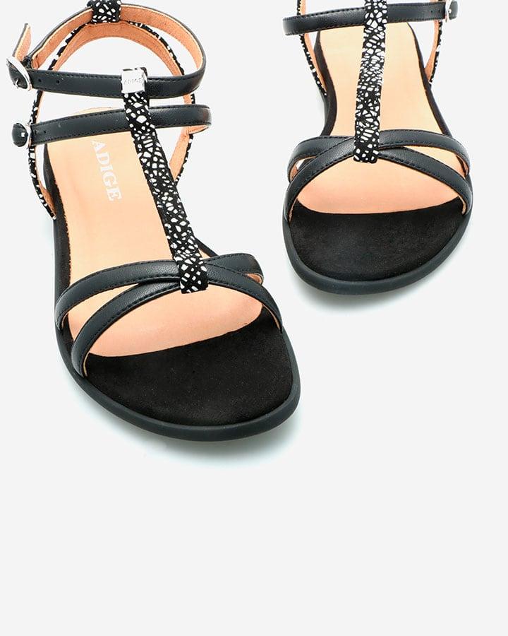 sandale noir et blanc femme